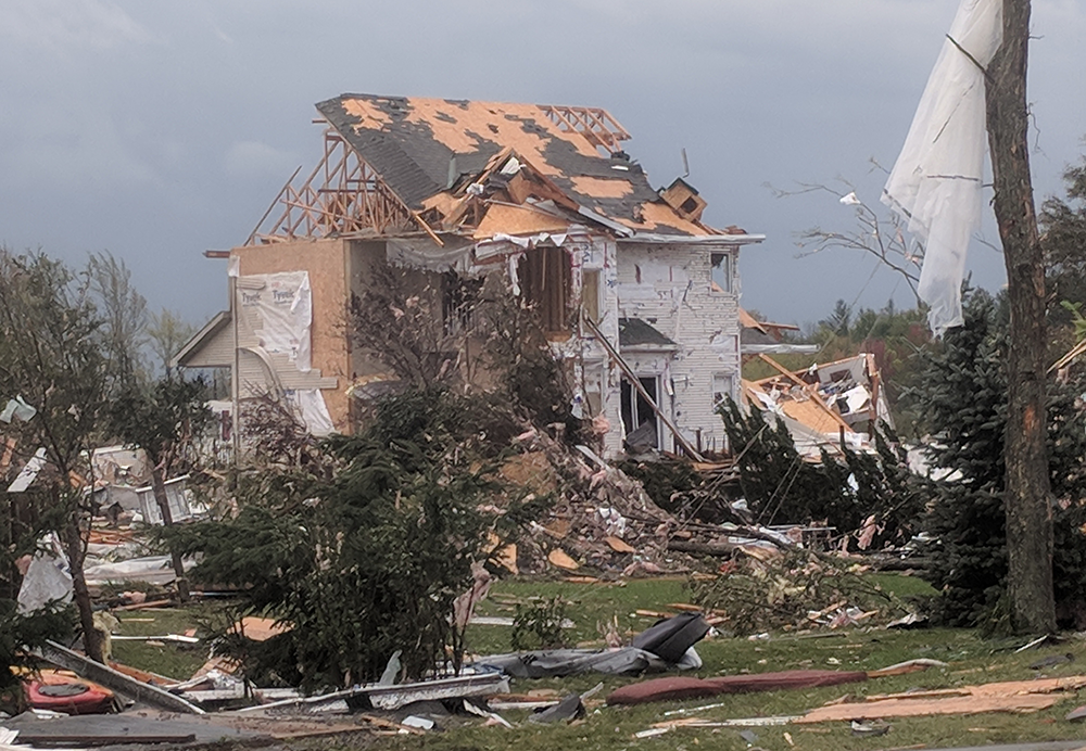 Home in Dunrobin destroyed by a tornado