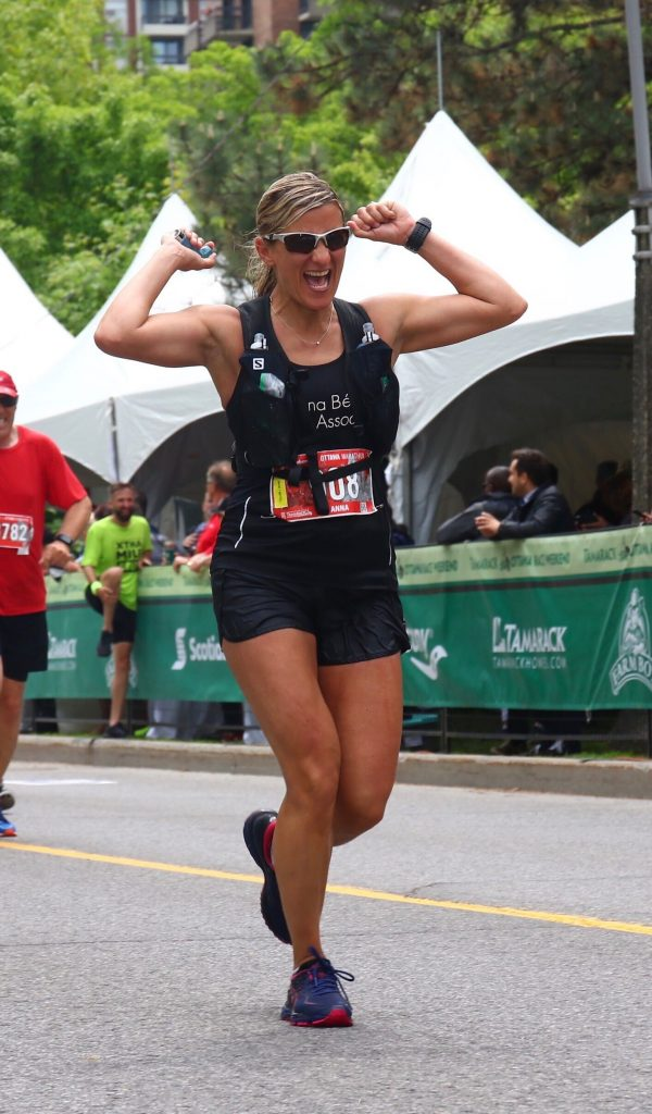Anna Belanger running in Ottawa Race Weekend