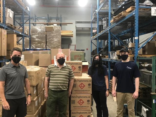 The City of Ottawa received a shipment of 10,000 Facing Forward cloth masks which will be distributed to City staff members.